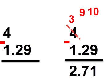 2.71 = 1.29 - 4