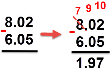 1.97= 6.05 - 8.02