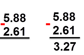 3.27 = 2.61 - 5.88