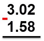 = 1.58 - 3.02
