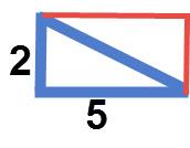 מלבן שנוצר משני משולשים ישרי זווית