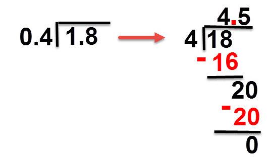 4.5 = 1.8:0.4