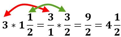 3 * 1/2 1 = 4.5