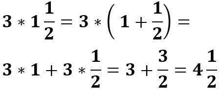 3 * 1/2 1= 4.5