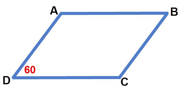ניתן להשלים את כל הזוויות; הזווית B = 60. וגם A = C = 120