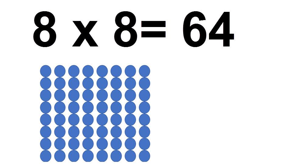 64 = 8 * 8